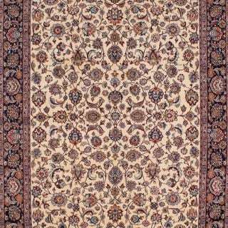 ecarpetgallery Hand Knotted Persian Tabriz 50l Beige Wool/ Silk Rug (9'9 x 13'1)