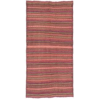 ecarpetgallery Hand Knotted Persian Qashqai Brown Wool Sumak (5'4 x 10'9)