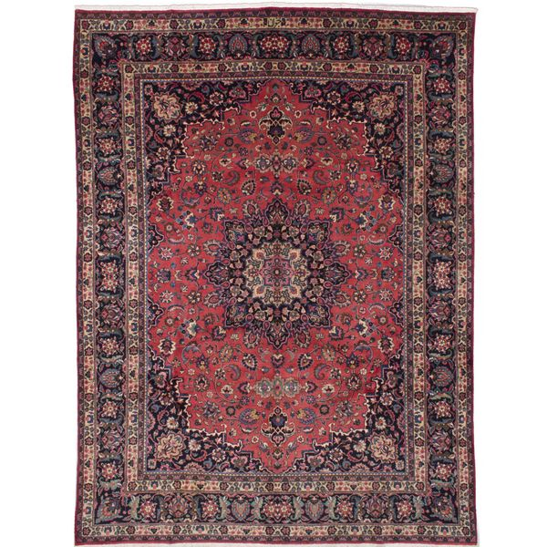 Shop Ecarpetgallery Hand Knotted Persian Kashan Red Wool: Shop Ecarpetgallery Hand Knotted Persian Mashad Red Wool