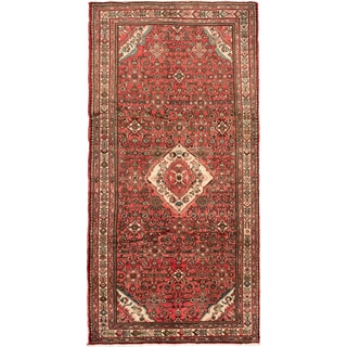 ecarpetgallery Hand Knotted Persian Hosseinabad Brown Wool Rug (5'5 x 11'2)