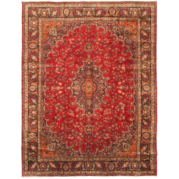 Shop Ecarpetgallery Hand Knotted Persian Kashan Red Wool: Shop Ecarpetgallery Hand-knotted Persian Sabzevar Red Wool