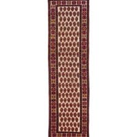 ecarpetgallery Hand Knotted Persian Afshar Beige/ Red Wool Rug