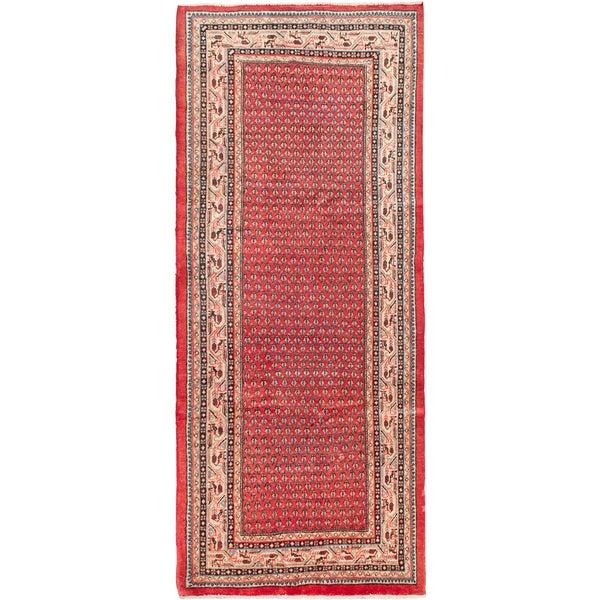 ecarpetgallery Hand Knotted Persian Arak Pink Wool Rug - 4'7 x 11'0