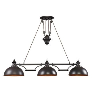 Elk Farmhouse 3-light Billiard in Oiled Bronze