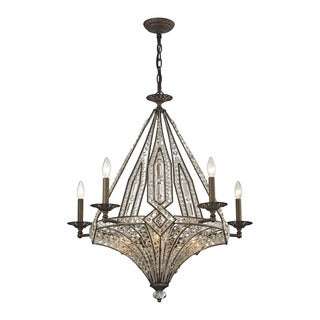 Elk Jausten 10-light Chandelier in Antique Bronze