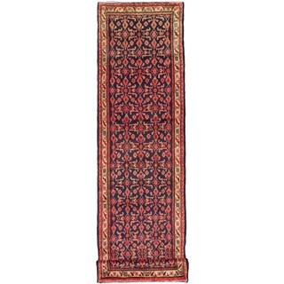 ecarpetgallery Persian Mahal Blue Wool Rug (3'9-inch x 13'7-inch)