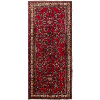 ecarpetgallery Persian Hamadan Red Wool Rug (5'6-inch x 11'10-inch)