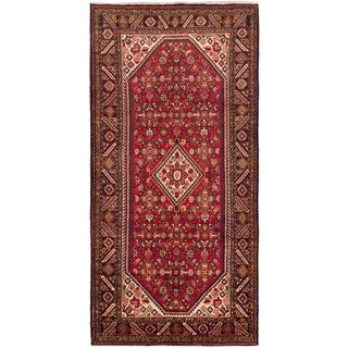 ecarpetgallery Persian Hosseinabad Red Wool Rug (5'3-inch x 10'9-inch)