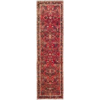 ecarpetgallery Persian Hamadan Red Wool Rug (3'6-inch x 13'0')