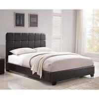 Oliver & James Lawrie Brown Upholstered King-size Platform Bed
