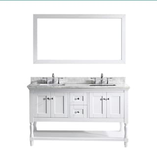 Virtu USA Julianna  60-inch White Double Bathroom Vanity Cabinet Set