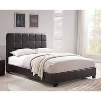 Oliver & James Lawrie Brown Upholstered Queen-size Platform Bed