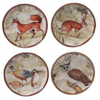 Certified International Rustic Nature 6-inch Canape Plates (Set of 4) Assorted Designs