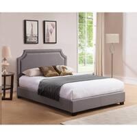 Brossard,  Queen Size, Grey Upholstered Platform Bed