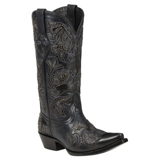 Black Star Women's Trinity Black Leather Boots