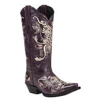 Black Star COSTILLA (Purple) Women's Cowboy Boots