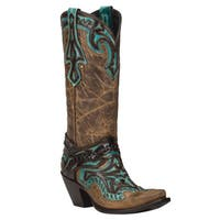 Black Star EUREKA (Brown/Turquoise) Women's Cowboy Boots