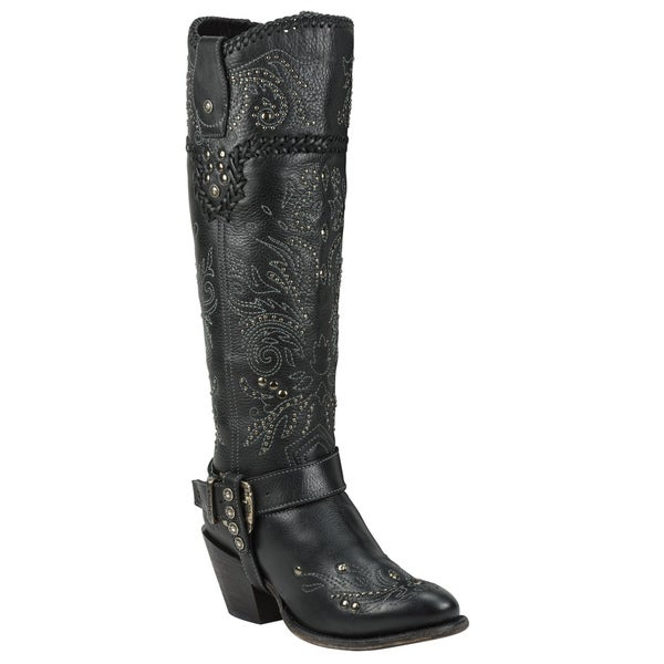 a38c6c3632a Shop Black Star ANDROMEDA (Black) Women's Western Fashion Boots ...
