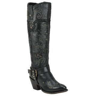 Black Star Women's Andromeda Black Leather Boots