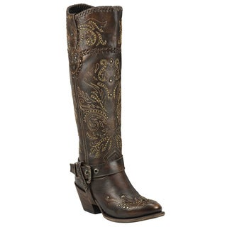 Black Star Women's Andromeda Brown Leather Boots