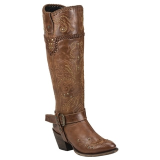 Black Star Andromeda Tan Women's Leather Fashion Western Boots