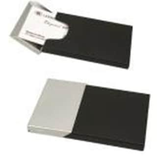 Elegance Business Card case, Matte Black and Chrome Finish