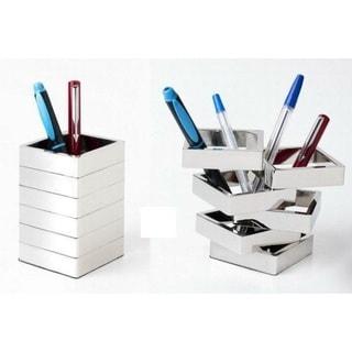 Elegance Contemporary Design Desk Square Multi Layer Pen Holder