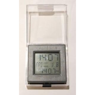 Elegance Dual Time Grey Alarm Clock
