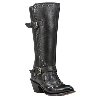 Black Star Women's Orion Black Leather Boots