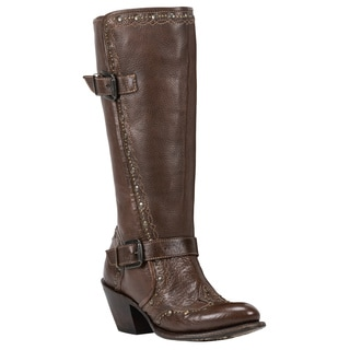 Black Star Women's Orion Brown Leather Boots