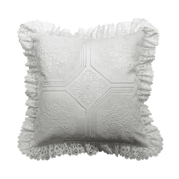 Shop Ruffled Eyelet Floral 18 Inch Throw Pillow Free
