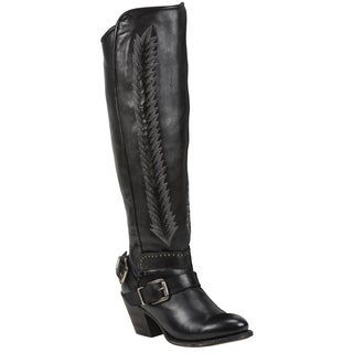 Black Star Women's Hydra Black Leather Boots