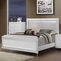 Metallic White King Bed