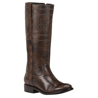 Black Star Women's Sirius Brown Leather Boots