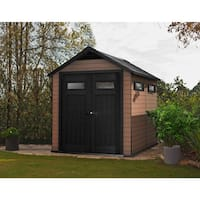 Keter Fusion 759 Wood and Plastic Composite Large Outdoor Storage Shed