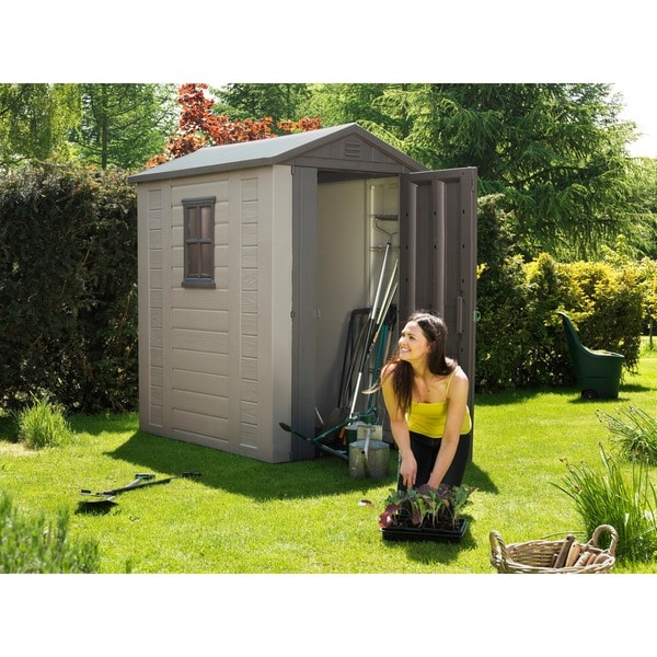 Exceptional Keter Factor Large 4 X 6 Ft. Outdoor Backyard Garden Storage Shed
