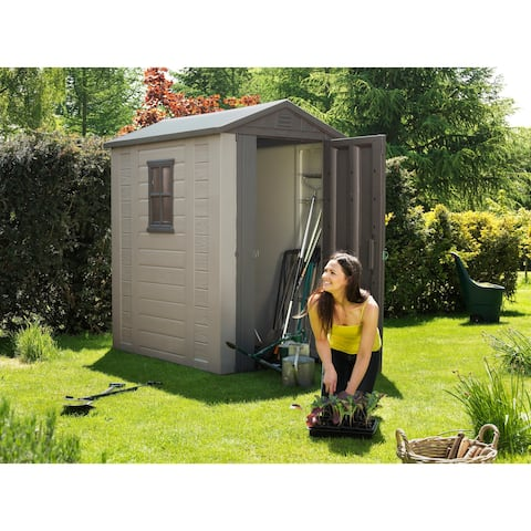 Keter Factor Large 4 x 6 ft. Outdoor Backyard Garden Storage Shed