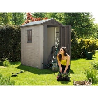 Keter Factor Large 4 x 6 ft. Outdoor Backyard Garden Storage Shed