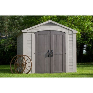Keter Factor Large 8 x 11 ft. Resin Outdoor Yard Garden Storage Shed