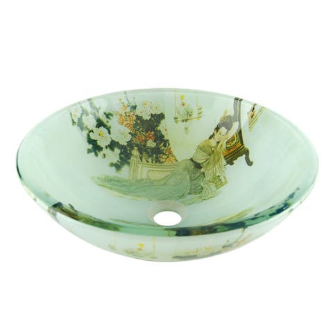 Fontaine Geisha Glass Vessel Bathroom Sink