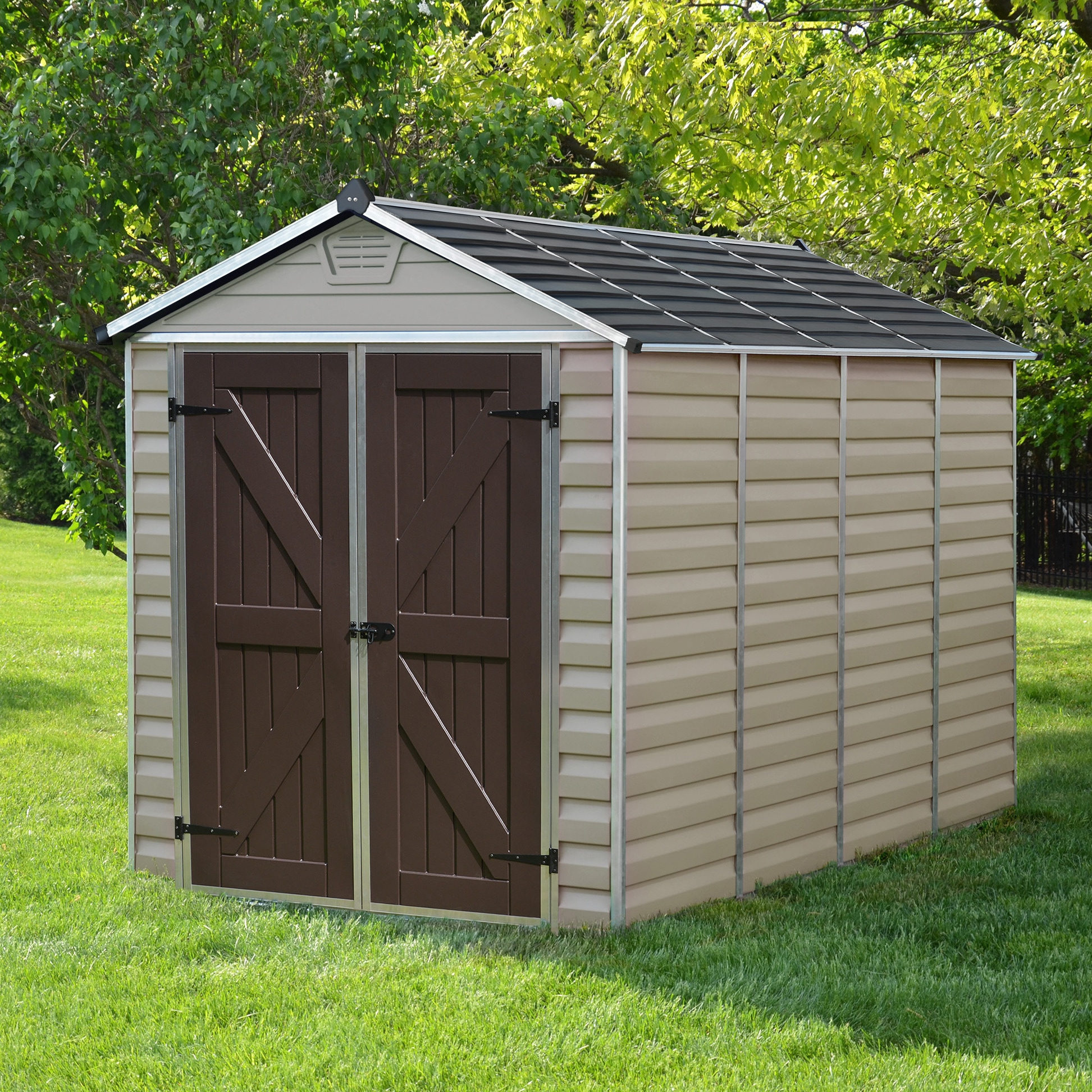 palram skylight tan 6ft x 10ft shed skylight shed 6 - Garden Sheds 6 X 10
