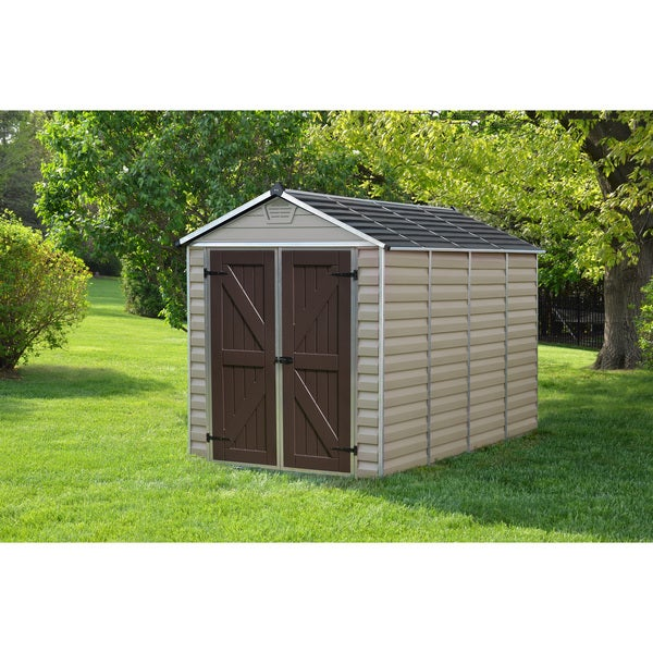Palram skylight tan 6ft x 10ft shed free shipping for Buro 600 6ft ups