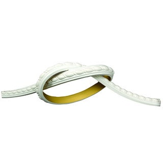 "1 Inch Ribbon Rope Flexible Panel Molding 93"" long Primed White"