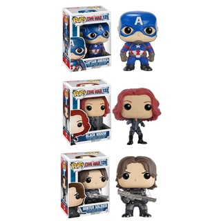 Funko Captain America 3 (Civil War) POP! Marvel Collectors Set: Captain America, Black Widow & Winter Soldier