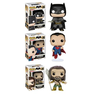 Funko Batman vs. Superman POP! Heroes Collectors Set: Batman, Superman & Aquaman
