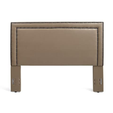 Rize Baffin Full and Queen Size Taupe Leather Headboard