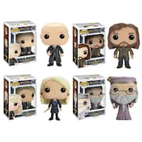 Funko Harry Potter POP! Movies Collectors Set: Draco Malfoy, Sirius Black, Luna Lovegood & Dumbledore