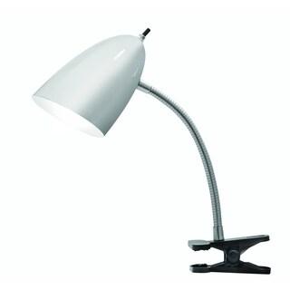 Tensor 17974-002 19-Inch Gooseneck Brushed Steel Clip-On Desk Lamp