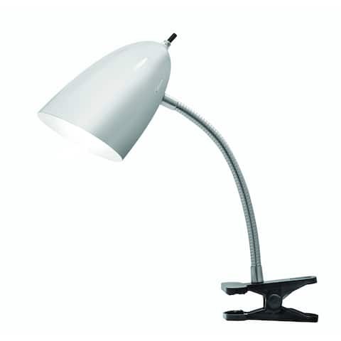 Tensor 17974-002 19-Inch Gooseneck Brushed Steel Clip-On Desk Lamp