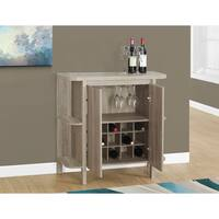 Havenside Home Driftwood 36-inch Dark Taupe Home Bar with Bottle And Glass Storage
